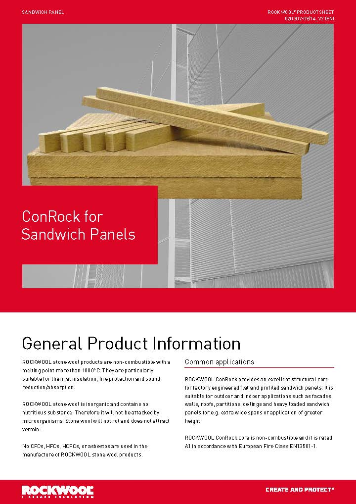 ConRock for Sandwich Panels